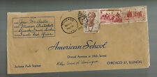 1948 Bamako Mali Airmail cover to AMerican School USA Protestant Missionary AOF