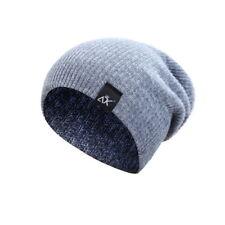 Women Men Unisex Camping Hat Winter Beanie Baggy Warm Wool Ski Cap Fleece Line