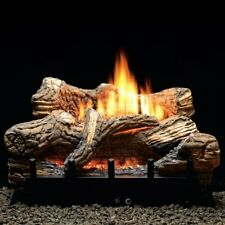 Empire Ceramic Fiber Log Set W/Vent-Free Burner, Manual, 5-piece, 18-inch
