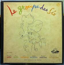 JEAN COCTEAU le groupe des six 2 LP VG+ ANGEL 3515 B UK 1954 COCTEAU Art & Book