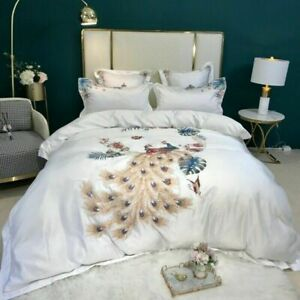 Luxury Embroidery Bedding Set Duvet Cover Bed Sheet Pillowcases Home Textiles