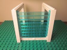 NEW Lego Garage Door Assembly with Light Blue Transparent Rollers