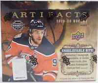 2019-20 UPPER DECK ARTIFACTS NHL HOCKEY HOBBY BOX - NEW SEALED - FREE SHIP
