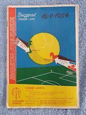 1954 - YUGOSLAVIA v ENGLAND PROGRAMME - FRIENDLY - 53/54 - ORIGINAL