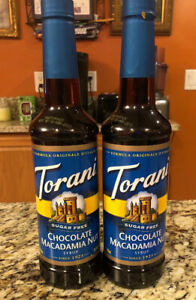 Torani Sugar Free Chocolate Macadamia Nut Syrup (2 750 ml bottles)
