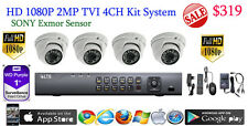 HD TVI 4CH DVR LTS LTD8304T-FT +1TB WD HD +4x Sony Exmor 2MP Dome Cameras HDTVI