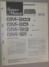 Pioneer Car Stereo Power Amplifier GM-203 GM-201 GM-123 GM-121 Service Manual