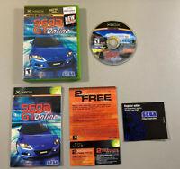 Sega GT Online (Microsoft Xbox, 2004) Tested Complete Case + Disc + Manuals L@@K