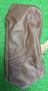 Sun Mountain Driver Headcover Striped Brown Leather NEW Golf Accessory