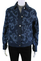 Rag & Bone Womens Jacquard Denim Jacket Blue Size Extra Small