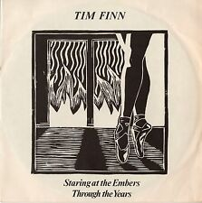 "TIM FINN (SPLIT ENZ) - STARING AT THE EMBERS PIC SLEEVE 7"" VINYL SINGLE Aus NM"