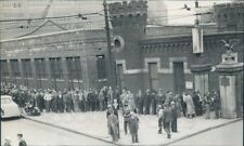 1940 Men in Line Hope For Work Brooklyn Navy Yard 1940s Press Photo
