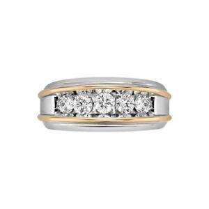 Jewelry Men's 1 ct. tw. Diamond Wedding Ring in 14K Two-Tone Gold