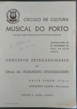 Program 1961 Autographed by the karlheinz Stockhausen