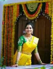 Sneha Full Tissue Uppada Silk Border Sarees Hand Weaved South Indian Pattu Sari