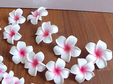"48 Artificial Foam Pink And Yellow Plumeria Flower Heads (2.7"")"