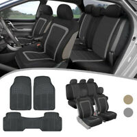 Car Seat Covers with Rubber Floor Mats Complete Interior Protection Full Set