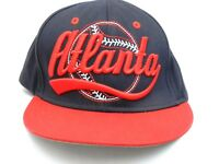 Atlanta Braves Cap MLB Baseball Hat Adjustable Navy Blue Embroidered Front
