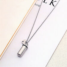 Stainless Steel Cremation Ashes Keepsake Urn Bottle Necklace Memorial Jewelry