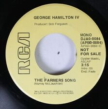 Rock Promo Nm! 45 George Hamilton Iv - The Farmers Song / Second Cup Of Coffee O
