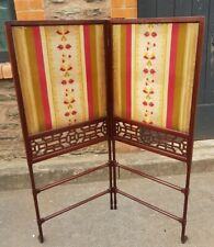 More details for edwardian mahogany two fold screen