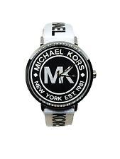 Michael Kors Womens Mk2863 Addyson Quartz Three Hand Black Dial Watch