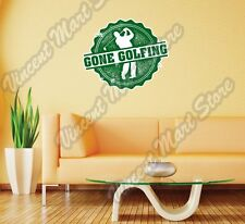 "Gone Golfing Golf Club Course Grunge Wall Sticker Room Interior Decor 22""X22"""