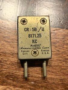 Vintage FT 243 Radio Oscillator Crystal 8171.25 KHz Aireon Mfg. Corp CR-5B/U