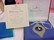 """Wedgwood Millennium Gems 1998 Sage Green w/Pearl """"Wisdom"""" Ornament w/Box England"""