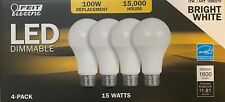 FEIT 100 Watt Replacement Dimmable Led Bulbs 4 pack - OB