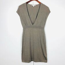 BANANA REPUBLIC Beige Brown Wool Cashmere Blend Sweater Dress XS Cap Sleeve