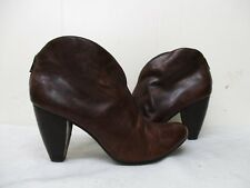 Born Crown Brown Leather Zip Ankle Boots Womens Size 9.5 M/W Style W82540