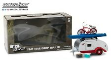 GreenLight 1/24 Teardrop Trailer ,Roof Rack, Bicycle, 18440-A