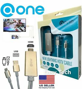 HDMI Mirroring Cable Phone to HDTV/Monitor/Projector Adapter For Apple & iPhone