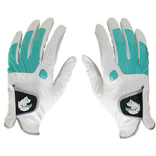NEW Aquila Ladies Golf Glove Pair - Left & Right Hand - White/Green -Extra Small