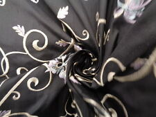 Embroidered Silk Dupioni 100% 'Aunt Elanor', (per metre) dress fabric