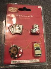 Mini Casino Christmas Tree Ornaments Cards Dice Chips Slot Machine New