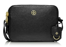 TORY BURCH Robinson Pebbled Double-Zip Cross-Body 32149961 [Black]