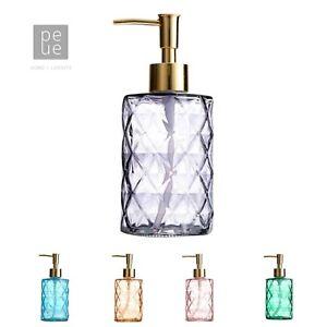 330ml Glass Liquid Shampoo Soap Dispenser Hand Pump Bottle Green Grey