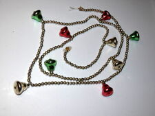 Vintage Christmas Mercury Glass Bead and Bell Garland Strand 68""