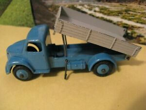 Dinky Toys Dodge Truck Dumpster Tipping Wagon Blue/Gray Meccano Vintage Steel