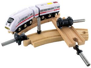 ENT 09050 4-tlg. Eisenbahn-Fräser-Set zum Fräsen von Holzschienen, Schaft 8 mm