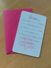 Sister Wallet Card with envelope