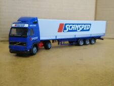 Herpa Volvo FH16 & Covered Trailer - Scansped. 1/87 HO. Good+.