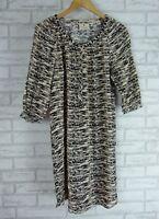 MAISON SCOTCH Dress Sz 2 Beige, Black print