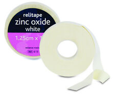 Relitape White Zinc Oxide Tape 1.25cm x 10m Easy Tear Sports Support (5GM000613)