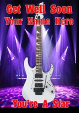 WHITE Jem chitarra cptmi 59 Guarisci Presto A5 Scheda personalizzata Saluti