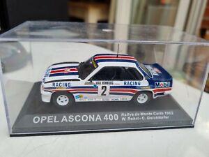 1/43 OPEL ASCONA 400 MONTE CARLO RALLY 1982 WALTER ROHRL di cast model car