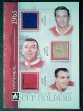 JEAN BELIVEAU/GUMP WORSLEY/HENRI RICHARD AUTHENTIC PIECES OF GAME-USED JERSEY/9