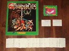 Thundercats 1986 Empty Panini album, Complete loose 264 Panini Sticker Set &....